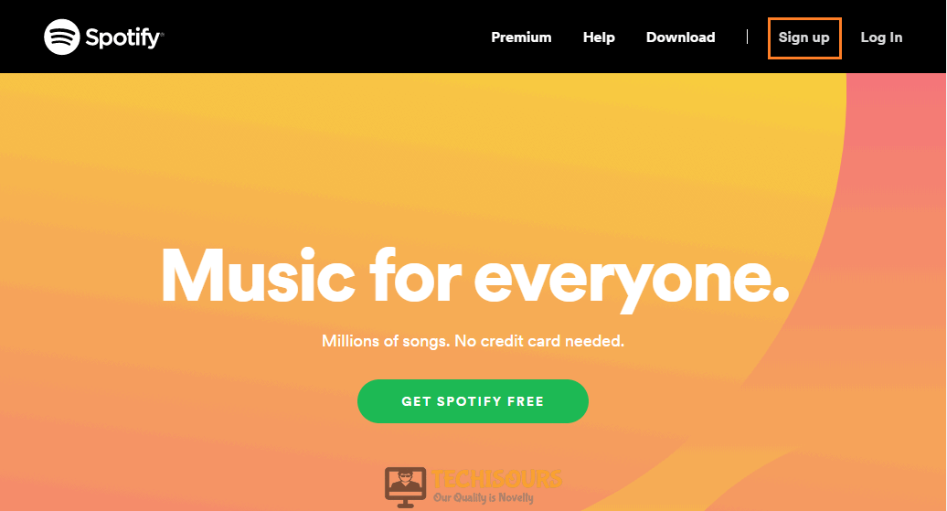 "Clicking ""Sign up"" to resolve spotify keeps logging me out"