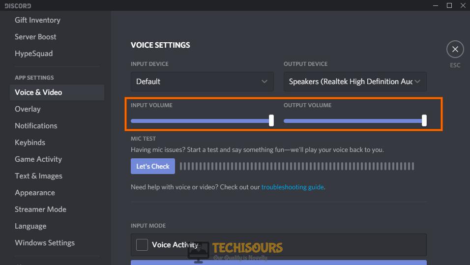 Check the in-app volume