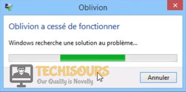 oblivion crash on startup