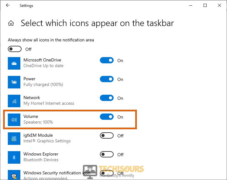 Re-enable notifications on the taskbar