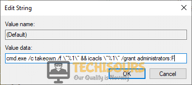 """Edit """"Value Data"""" to resolve unable to display current owner problem"""