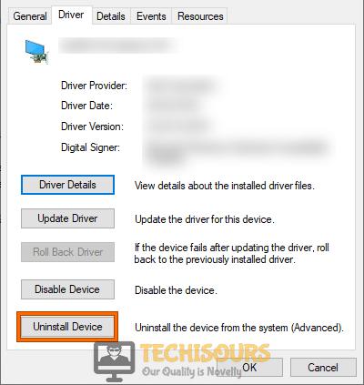 Uninstall Device to fix printer needs user intervention problem