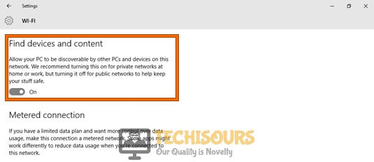 Allow your PC to be discoverable