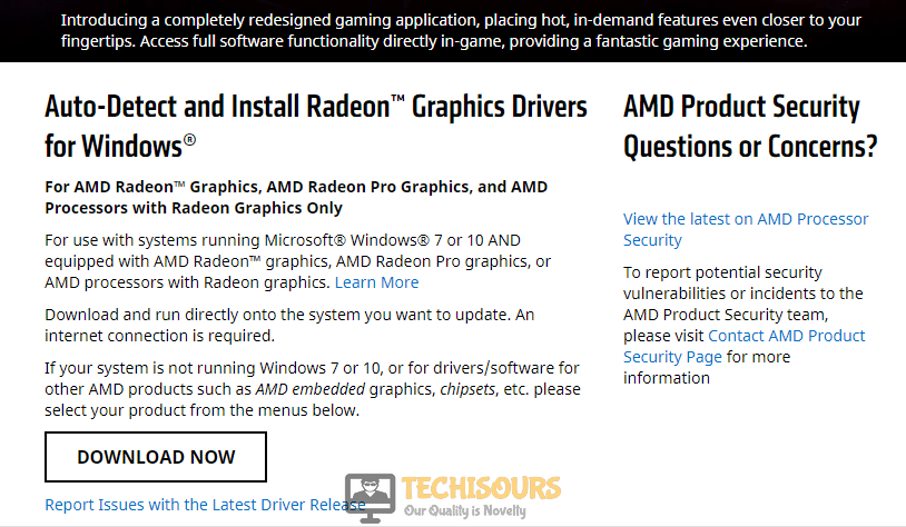Auto-Detect and Install Radeon™ Graphics Drivers for Windows®