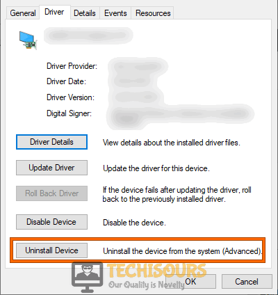 Uninstall driver to fix unexpected store exception issue