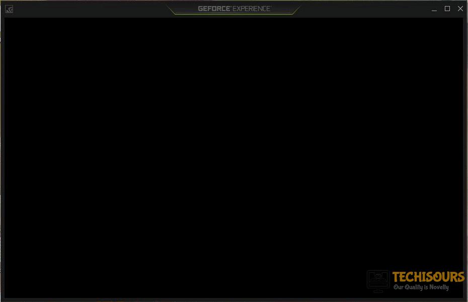 geforce experience black screen
