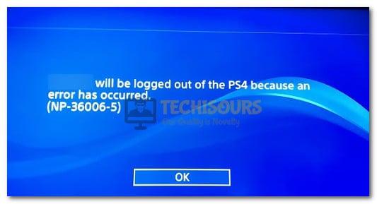 ps4 error code np-36006-5