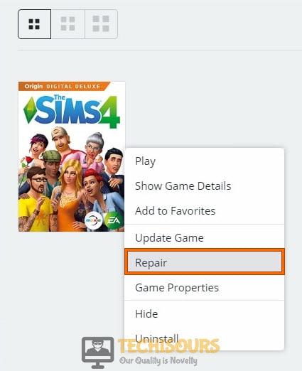 Repair the game