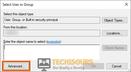 "Click on ""Advanced"" Button"