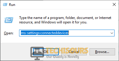 """Typing """"ms-settings:connecteddevices"""" to fix this device cannot start. (code 10) insufficient system resources exist to complete the api issue"""