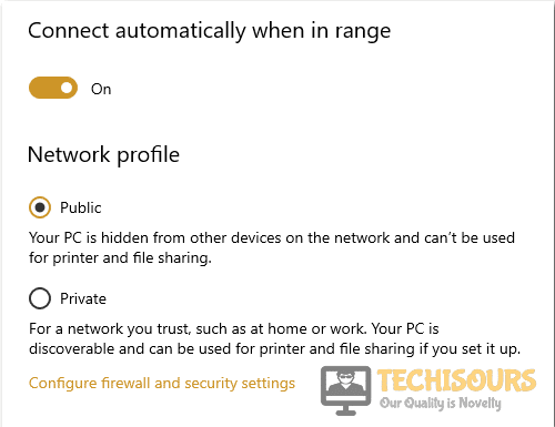windows doesn't have a network profile for this device