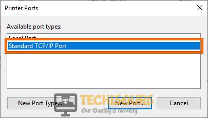 Standard TCP/IP Port
