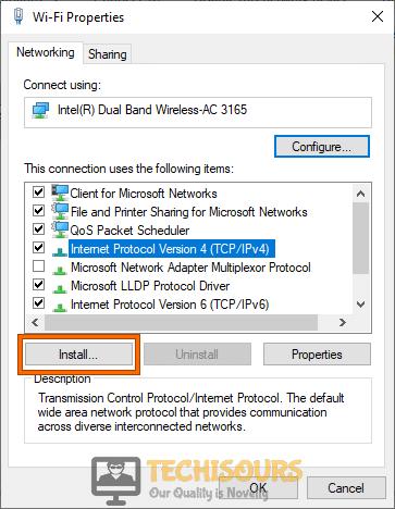Install Internet Protocol