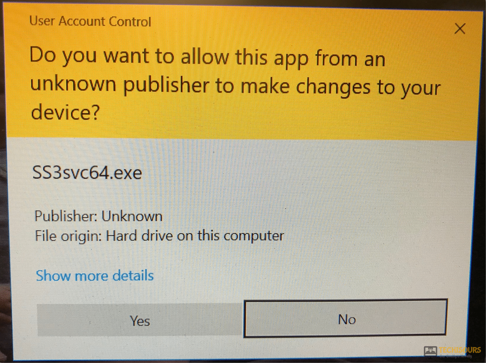 ss3svc64.exe on startup
