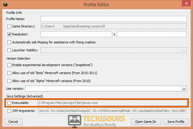 Choose Minecraft mod manager to fix opengl error 1281