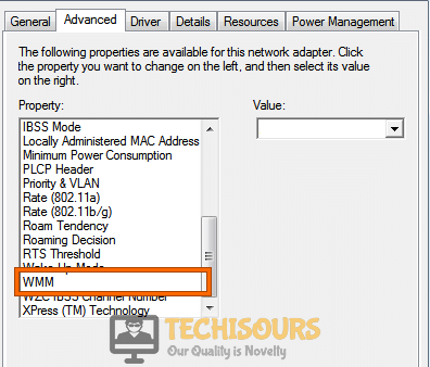 Enable WMM Option to fix problem with wireless adapter or access point