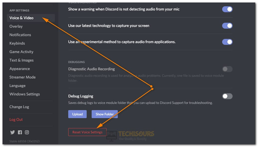 Resetting Voice Settings to fix Discord Cutting out Issue