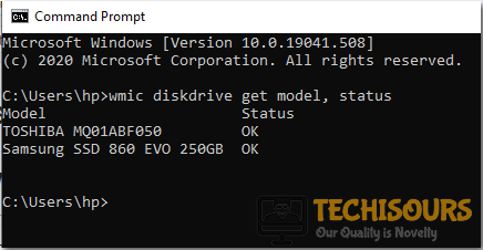Check harddrive status to fix unexpected store exception issue