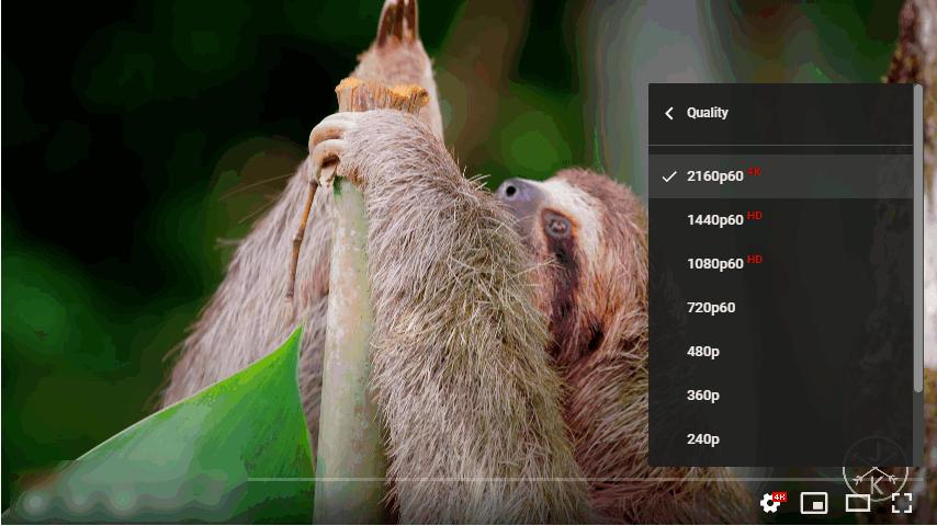 4k Video display