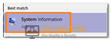 Clicking on System Information