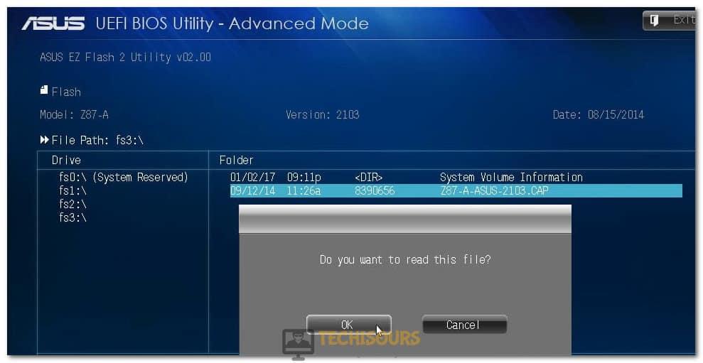 Installing Bios Update File