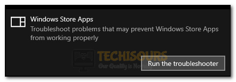 Windows Store Apps: Run the Troubleshooter