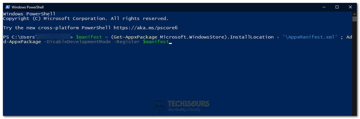 Executing the PowerShell Command