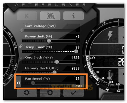 Setting Fan Speed Manually