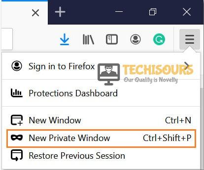 Choose Private Window