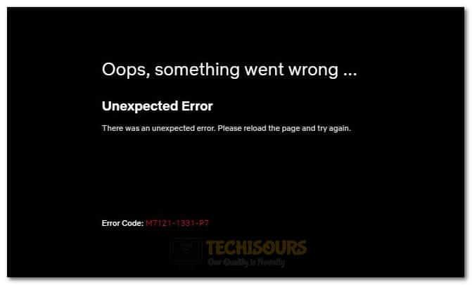 Error Code M7111-1331-4027