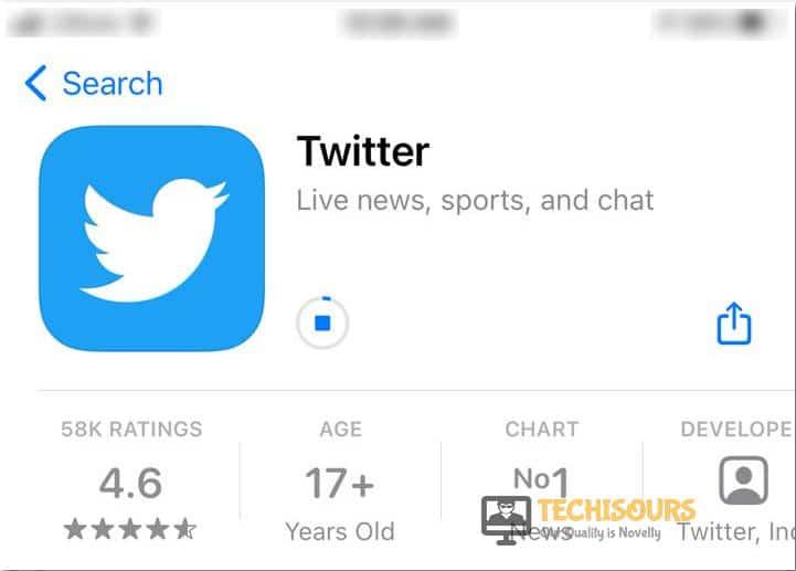 Installing Twitter