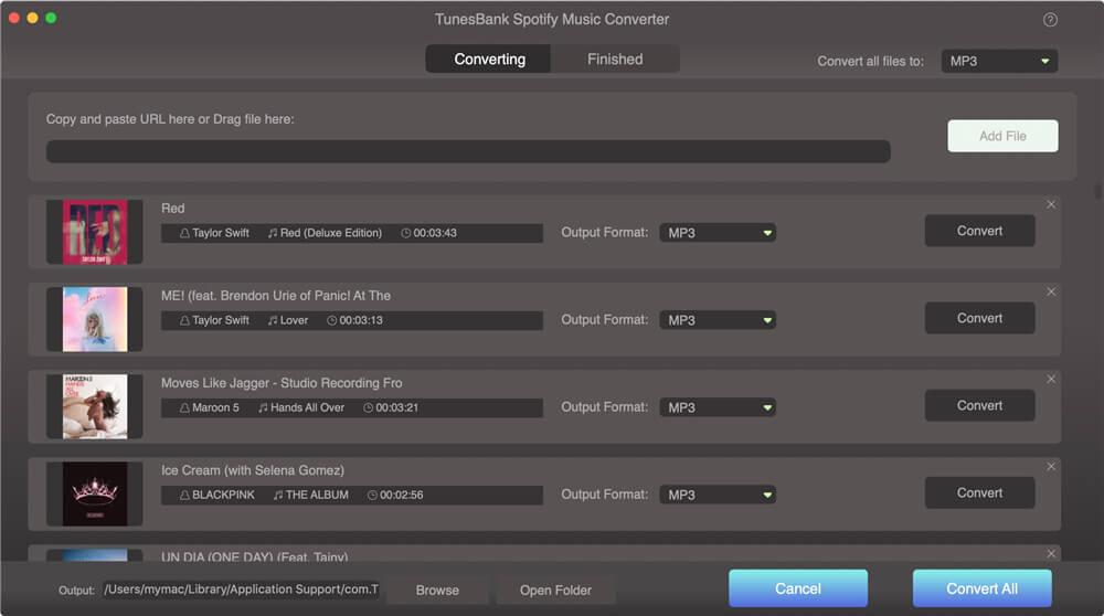 Convert spotify music