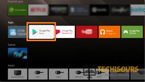 Choose Google playstore