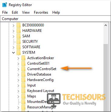 Select currentcontrolset