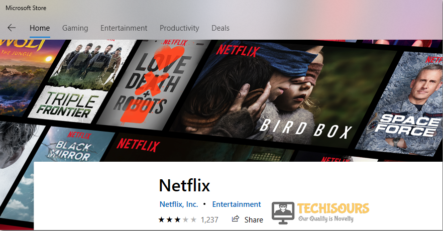 Search for netflix to fix tvq-pb-101