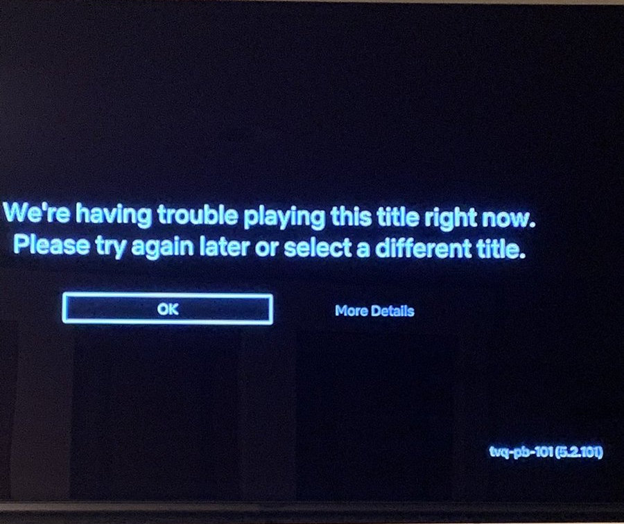 Netflix Error TVQ-PB-101