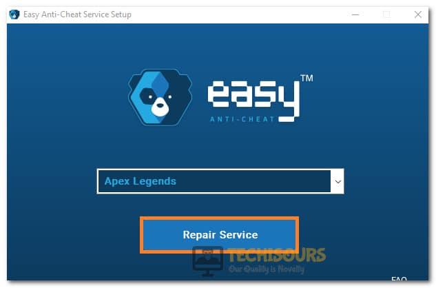 Repairing Apex Legends Easy Anti Cheat Service
