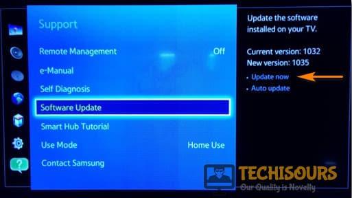 Update TV Software
