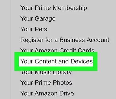 choose your content option