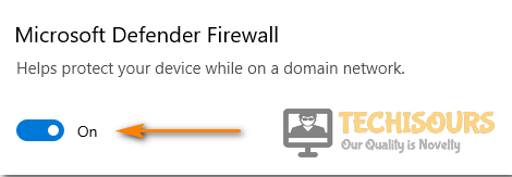 Turn OFF windows defender firewall to fix plex is not reachable issue