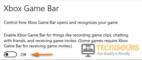 Turn OFF xbox game bar