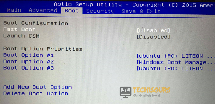 Select Boot Option