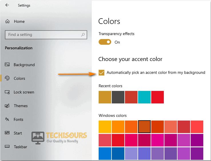 Tweak accent colour properties