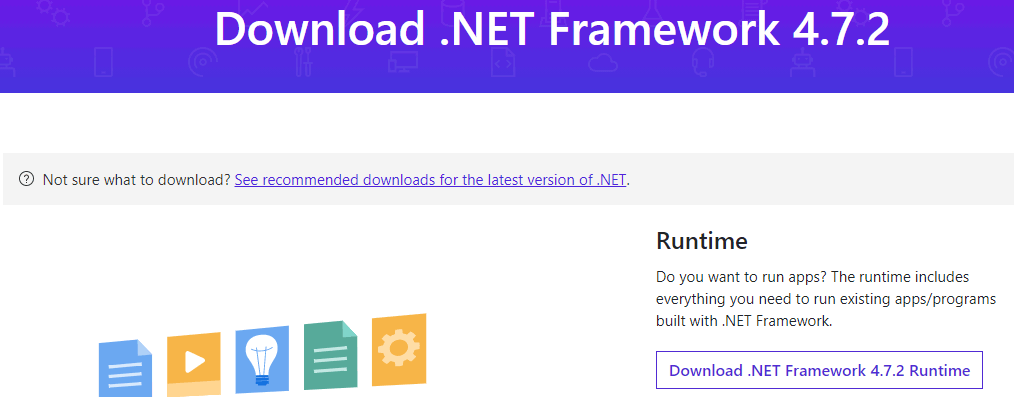 Download .NET framework to fix igfxem.exe issue