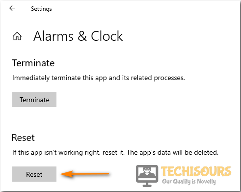 Reset Alarms and Clock