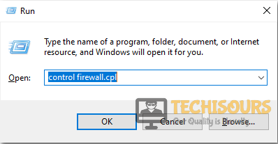 Type Control Firewall Command