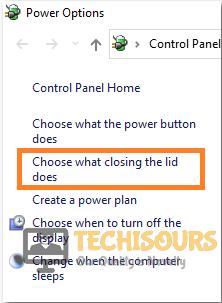 Select lid option