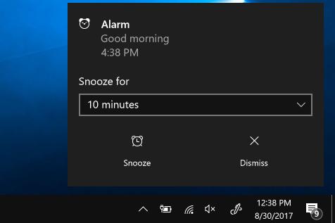 windows 10 alarm not working