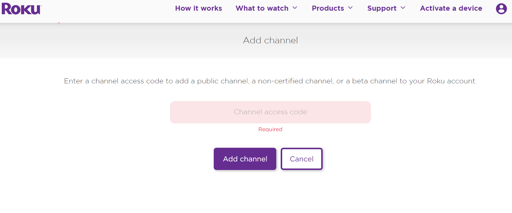 Add Channel with a code
