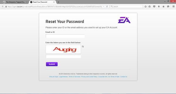 Reset Origin Password